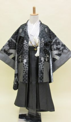 5歳男児 羽織袴フルセット「シックで粋な羽織袴」