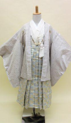 5歳男児 羽織袴フルセット「薄鼠地羽織袴」