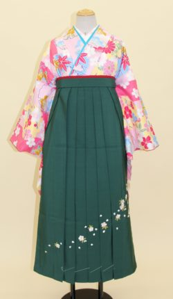小振袖・袴フルセット「ピンク地に明るい花々」