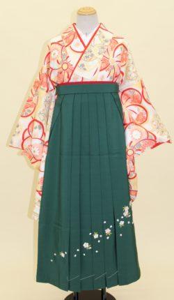 小振袖・袴フルセット「クリーム地にオシャレな花々」