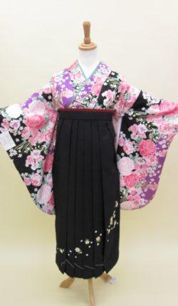 小振袖・袴フルセット「紫地にオシャレな花々」