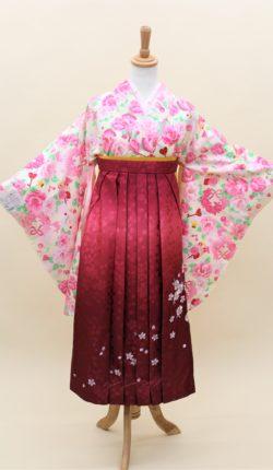 小振袖・袴フルセット「クリーム地に可愛い花々」