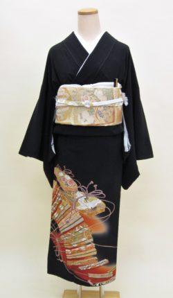 正絹黒留袖フルセット「平安調度 黒留袖」