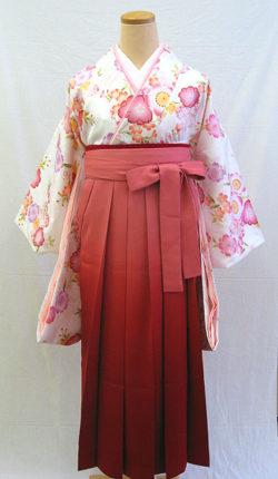 小振袖・袴フルセット「白地にはんなり八重桜」