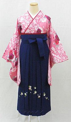 小振袖・袴フルセット「ピンク地に可愛い桜々」