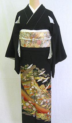 正絹黒留袖フルセット「平安絵巻 黒留袖」