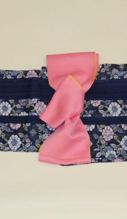 ブランド浴衣フルセット「rinnone 黒地に落ち着いた花々」