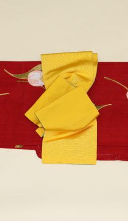 ブランド浴衣フルセット「花井幸子 赤地にチューリップ」