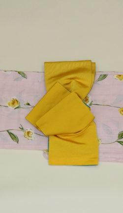 ブランド浴衣フルセット「花井幸子 ピンク地に洋花」