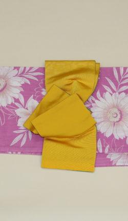 ブランド浴衣フルセット「seiko ピンク地に白花」