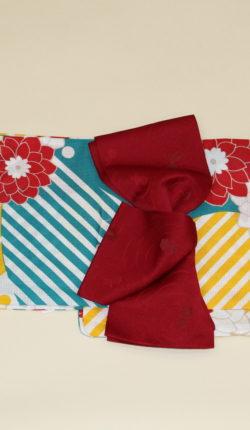 ブランド浴衣フルセット「YUIOKADA グリーン地に花々」